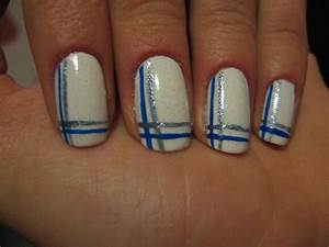 Nail lines design - how you can do it at home. Pictures ...