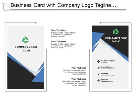 business card  company logo tagline job title