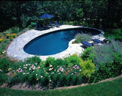 minimalist kidney shaped pool designs