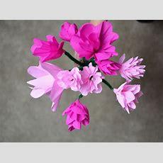 Diy Blumen Basteln Aus Papier Von We Love Handmade