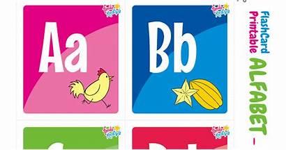 Alfabet Printable Indonesia Flashcard