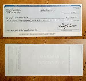 [Counterfeit Checks From Buying Scams] phony documents