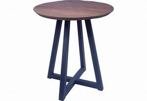 Table Ronde Haute : table haute ronde bukit en vieux teck pour le s jour koh deco ~ Teatrodelosmanantiales.com Idées de Décoration