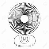 Fan Clipart Electric Metal Drawing Clip Cliparts Table Library Clipartmag sketch template