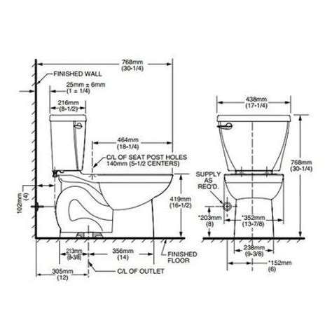 standard toilet height standard toilet dimensions crowdbuild for