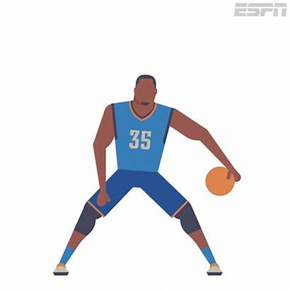 Basketball Animated Gifs Espn Durant Players Dribbling