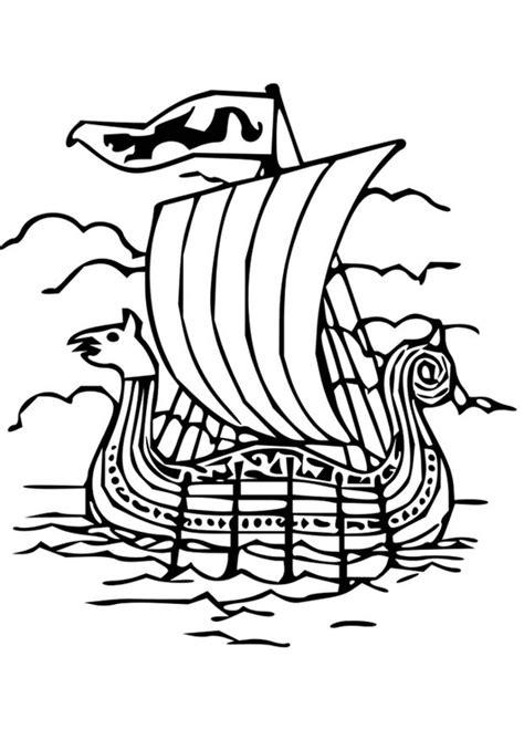 Drakenpoot Kleurplaat by Bilde 229 Fargelegge Vikingskip Bil 18669 Images