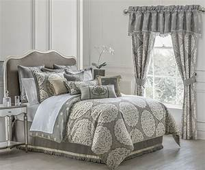 Darcy, Pewter, By, Waterford, Luxury, Bedding