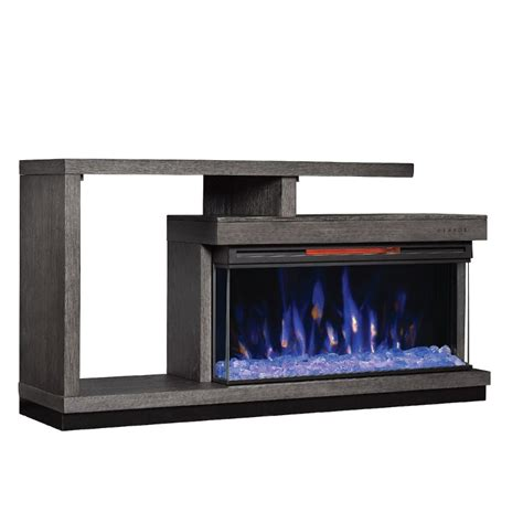 oak panoramic fireplace tv stand wright rc