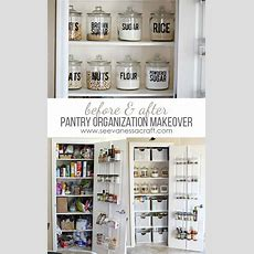 Small Pantry Organization Makeover Before & After