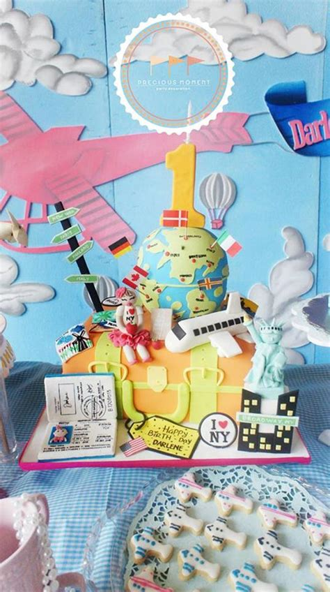1st birthday kara 39 s party ideas kara 39 s party ideas travel themed 1st birthday party with