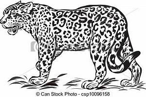 Dessin Jaguar Facile : vecteur clipart de sauvage jaguar illustration seulement une couleur csp10096158 ~ Maxctalentgroup.com Avis de Voitures