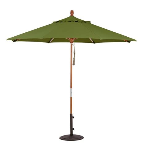 hton bay 11 ft led offset patio umbrella in sunbrella