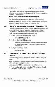 1 Programming Command Sequences  2 Led Indication During