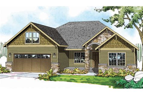 craftsman house plans cascadia    designs