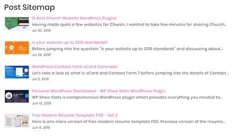 Generate Professional Html Sitemap Using Shortcode  Wp