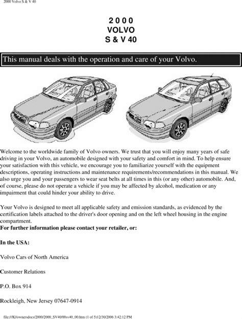 volvo   owners manual tradebit