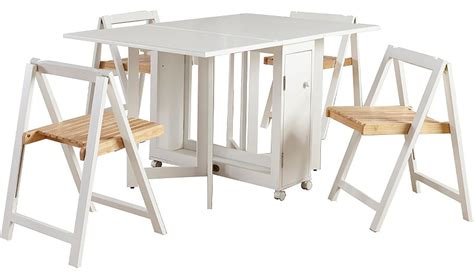 white folding dining table and chairs george home folding compact dining table and 4 chairs