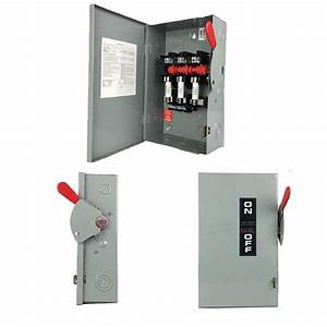30 Amp Manual Transfer Switch  Manual Automatic Function Of