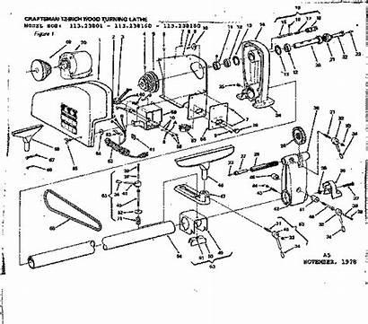 Parts Diagram Lathe Wood Craftsman Sears Unit