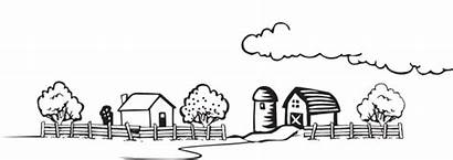Farm Coloring Landscape Clip 4vector