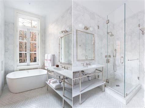 si鑒e pour salle de bain le carrelage hexagonal de salle de bain c 39 est tendance
