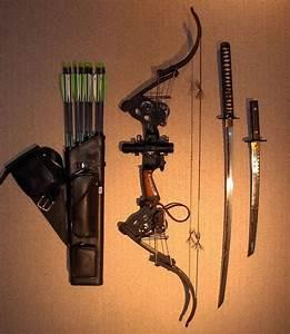 Ultimate zombie survival gear. Bow, Arrows, Swords. | Cool ...