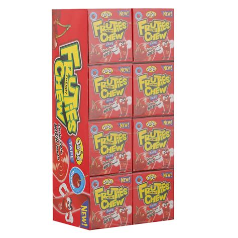 Researchers found that chewing gum affects several different indicators of alertness and improves attention. Jojo Fruties Cherry Flavour Chewing Gum 18 gr Pack of 24   Wholesale   Tradeling