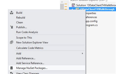 t4 template trying out the prerelease odata client t4 template wcf data services team
