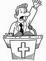 Church Preacher Cartoon Drawing Prank Getdrawings Paleric Si Rev sketch template