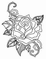 Embroidery Rose Briar Sketch Roses Tattoo Solitaire Coloring Flowers Lion Urban Awesome Unique Threads Urbanthreads Halloween sketch template