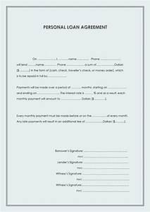personal loan repayment agreement loan document personal With personal loan document template free