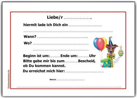 einladung kindergeburtstag einladungskarten hund hunde