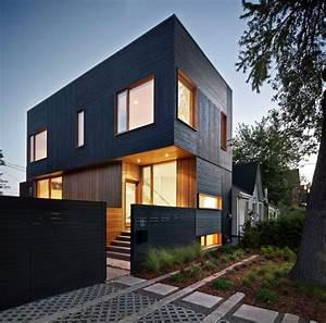 Maison contemporaine avec bardage en bois noir for Google vue des maisons 6 maison contemporaine avec bardage en bois noir
