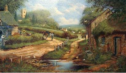 Country Scenes Paintings English Countryside Painting Spring