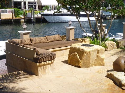 backyard pit outdoor seating area by matthew