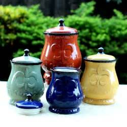 tuscan style kitchen canister sets details about country kitchen canister set tuscan decorative green blue yellow food storag