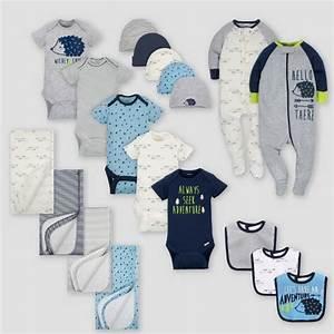 Fmt Charts Gerber Baby Boys 39 19pc Hedgehog Layette Gift Set Blue 0