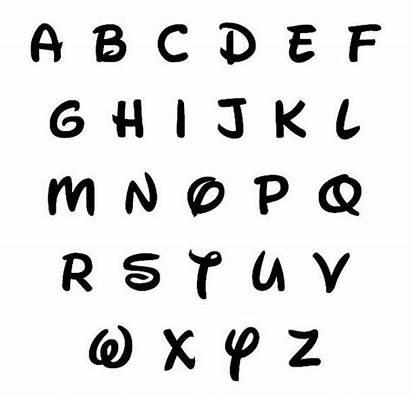 Disney Font Letters Plain Waltograph Wooden Paint