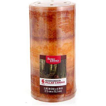 better homes and gardens candles better homes and gardens 6 quot pillar candle warm rustic