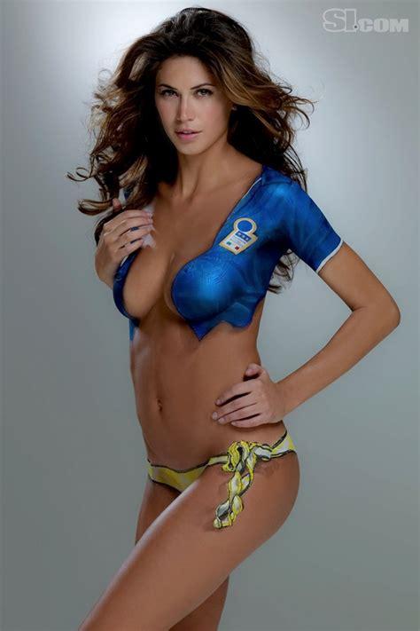 Melissa Satta Body Painting Sports Illustrated