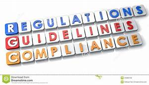 Compliance Regulations And Guidelines Stock Illustration