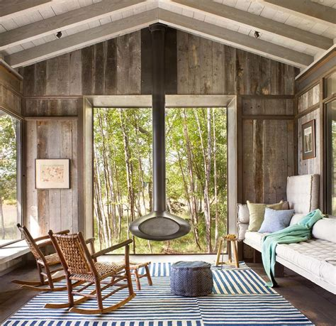 glass door designs for living room modern rustic cabin in montana offers captivating lakeside