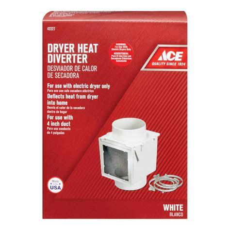 dryer garage into electric vented vent heat diverter stack heating
