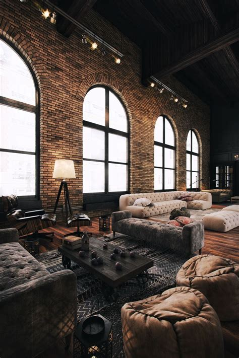 industrial interiors home decor best 25 industrial living rooms ideas on