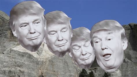 trump rushmore mount donald jesus peace prize thinks belongs face president seriously campaign he said