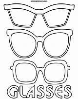 Glasses Coloring Template Pages Sunglasses Printable Eyewear Print Sketch Templates Printables Colorings Info Coloringway sketch template