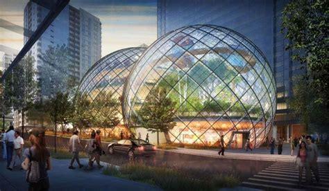 amazon siege amazon soffre un siège social futuriste et écolo en bulles