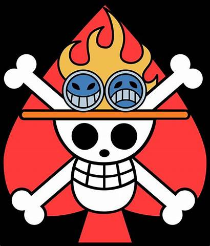 Piece Flag Ace Jolly Roger Pirates Clipart