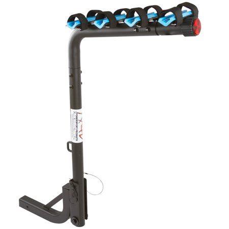 bike rack walmart 4 bike blue hitch mounted bicycle carrier rack